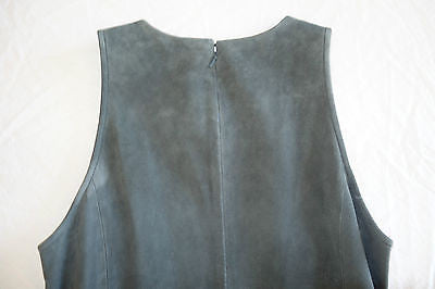 BALENCIAGA GRAY SUEDE LEATHER FLARED HEM DRESS (SEEN ON KATE MOSS!)