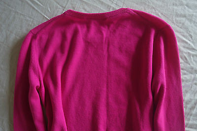 ~NWT $745 CHRISTOPHER KANE HOT PINK CASHMERE SWEATER FROM MAXFIELDS (OMG)~ M