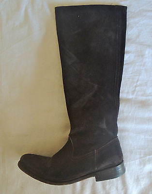 N.D.C. DARK BROWN DISTRESSED SUEDE KNEE HIGH BOOTS FROM MADISON (SO LUXE!) 36