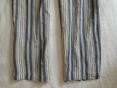 ~ VINTAGE SUE WONG BLUE STRIPED OVERALLS / JUMPSUIT (INSTANT STYLE CRED!) 4