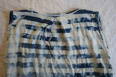 ~ STATESIDE BLUE TIE DYE STRIPED SLEEVELESS TOP (A LUXE BASIC!)  ~ M / L