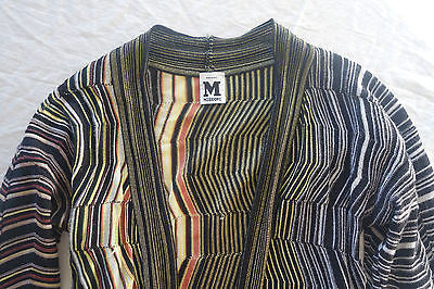 ~ MISSONI MULTICOLOR CHEVRON KNIT CARDIGAN SWEATER (SO ICONIC!)~ 42