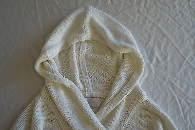 ~ A.L.C. IVORY COTTON & LINEN HOODED SWEATER (COOL MEETS LUXE!) XS