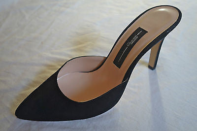 ~NEW JEROME DREYFUSS PARIS BLACK SUEDE MULES / HEELS (FOREVER CHIC!) ~ 38