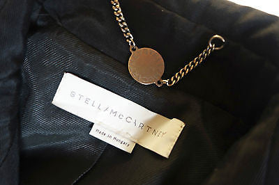 STELLA MCCARTNEY BLACK BELTED TRENCH COAT / JACKET