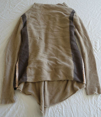 ~ 360 CASHMERE TRICOLOR CASHMERE CARDIGAN SWEATER (OHHH SO COZY!)~ S