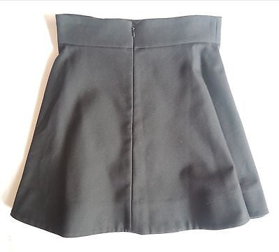 ~NWT BALENCIAGA BLACK PLEATED A-LINE MINI SKIRT (TOTALLY OBSESSED) ~ F 36