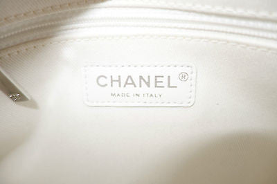 NEW CHANEL WHITE PERFORATED LEATHER UP IN THE AIR FLAP BAG
