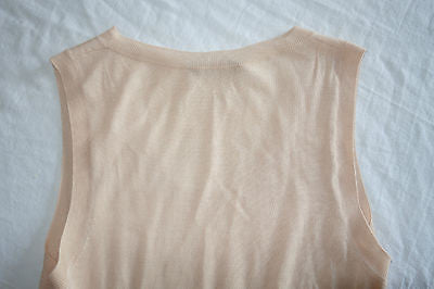 ALEXANDER MCQUEEN BLUSH KNIT SLEEVELESS PEPLUM BLOUSE TOP (SOOO PRETTY!)  ~ L