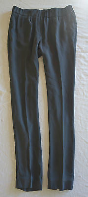 ~ BRUNELLO CUCINELLI DARK GRAY SILK RELAXED PANTS (A SARTORIAL STAPLE) ~ 40 / 4