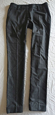 ~ NWT PRADA DARK GRAY PINSTRIPED DRESS PANTS (WORK WEEK CHIC) ~ 42