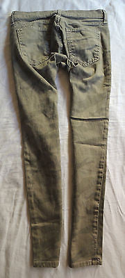 CURRENT / ELLIOTT OLIVE ARMY CAMO PRINT  STILETTO SKINNY JEANS (BEST FIT!)  25