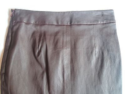~NWT $750 ALEXANDER WANG BROWN LEATHER MINI SKIRT (TOTALLY OBSESSED) ~ 4