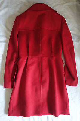 GIAMBATTISTA VALLI RED WOOL & CASHMERE COAT (IN LOVE W/ THIS HUE!) 44 / M