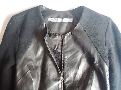 ~ RAQUEL ALLEGRA BLACK LEATHER PANEL JACKET (EVERYDAY COOL!) ~ 1 / S