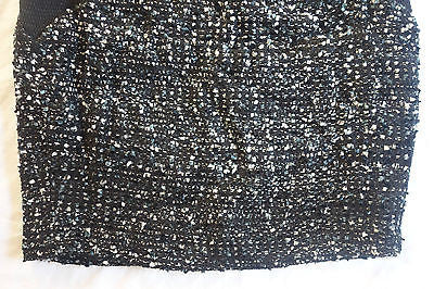 ~ CHARLES HENRY BLACK  & WHITE TWEED BOUCLE MINI SKIRT (SEXXXY) ~ US 4