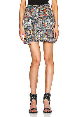 ~ ISABEL MARANT FLORAL PRINT SILK ARIANA BELTED MINI SKIRT (LOVE THIS!)  40