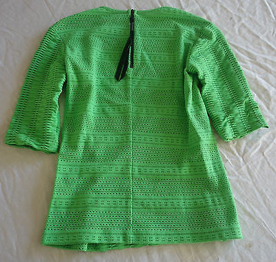 ~ RAG & BONE GREEN APPLE STRETCH SHORT SLEEVE TOP (ANYTHING BUT BASIC!)  ~ S