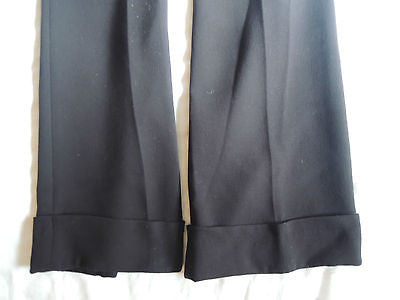 ~ BARBARA BUI BLACK FLAT FRONT TUXEDO TROUSER PANTS (A FLAWLESS FIT!) ~ 40