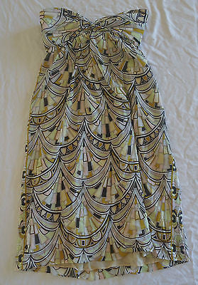 ~ EMILIO PUCCI PRINTED SILK STRAPLESS DRESS (ST. BARTHS IS CALLING!)  40