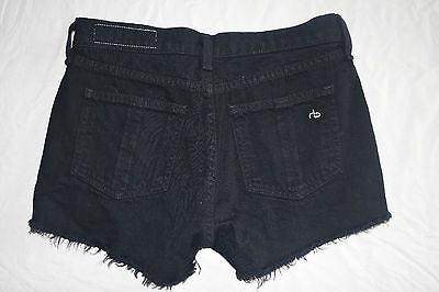 ~ RAG & BONE CUT OFF DENIM SHORTS IN BLACK COAL (OH SO COOL!) ~ 24