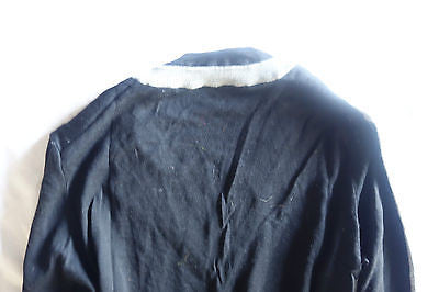 ~ BALENCIAGA PARIS GRAY & BLACK A-LINE SWINGY SWEATER (COZY MEETS LUXE!) ~ 36