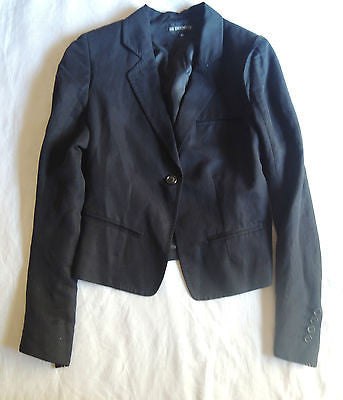 ~ ANN DEMEULEMEESTER BLACK FITTED BLAZER / JACKET (CLASSIC W/ A TWIST!) ~ 42