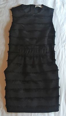 ~NWT A.L.C. BLACK FRINGE STRIPED SLEEVELESS SHIFT DRESS (THE ULTIMATE LBD!) ~ 4