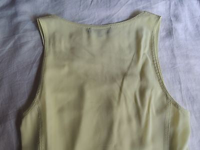 ~ BARBARA BUI NEON CURVED HEM SLEEVELESS BLOUSE TOP (SO FUN!) ~ 38