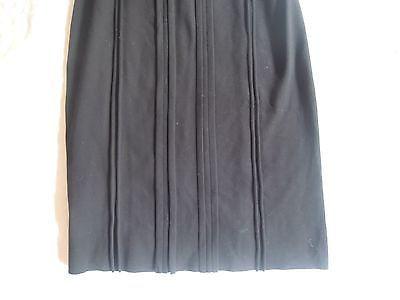 ~ PRADA BLACK CURVED SEAM STRETCH KNIT DRESS (THE ULTIMATE LBD!) ~ L / XL