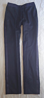 ~ YSL YVES SAINT LAURENT EDITION SOIR NAVY TUXEDO DRESS PANTS   ~ F 38