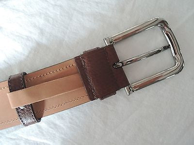 ~ PRADA CHOCOLATE BROWN TEXTURED LEATHER BELT (TOTAL WARDROBE STAPLE!) ~ 32 / 80