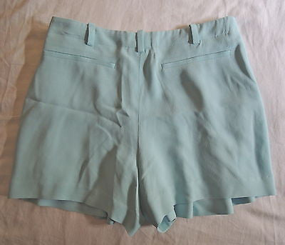 ~$845 CHLOE PALE BLUE PLEATED TROUSER SHORTS (CURRENT!) ~ 36 / XS