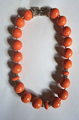 ~ ALEXIS BITTAR CORAL AND PAVE CRYSTAL BEADED STATEMENT NECKLACE (SO FUN!) ~