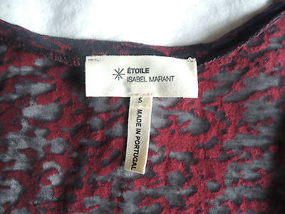 ~ ISABEL MARANT MAROON BURNOUT SLEEVELESS TOP (A WARDROBE ESSENTIAL!)  ~ S