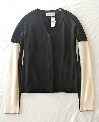 ~ NWT A.L.C. BLACK & WHITE KNIT CARDIGAN SWEATER (TRES COOL!) ~ XS
