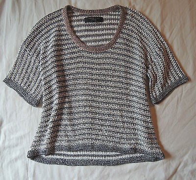 ~ RAG & BONE STRIPED KNIT SHORT SLEEVE SWEATER (COOL-GIRL FAVE!)~ S
