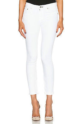 ~ RAG & BONE BRIGHT WHITE SKINNY CAPRI JEANS  (FLAWLESS CUT!) ~ 26