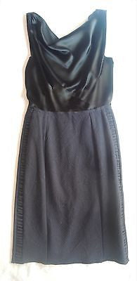 ~ $3K NINA RICCI BLACK SILK & GROSGRAIN RIBBON TIE SLEEVELESS DRESS (OMG!) 34