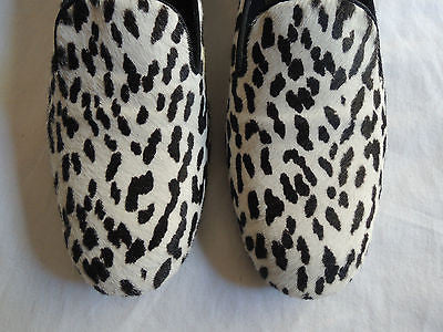 ~ SAINT LAURENT ANIMAL PRINT PONY LOAFERS SHOES (HIPSTER LUXE!) ~ 36.5