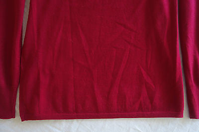 ~ ISABEL MARANT BERRY RED LIGHT-WEIGHT KNIT PULLOVER SWEATER (OH SO LUXE!)~ 36