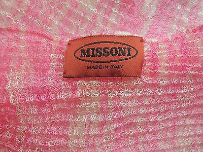 ~ MISSONI ORANGE LABEL HOT PINK WOVEN SCARF / WRAP (ST TROPEZ CHIC!) ~