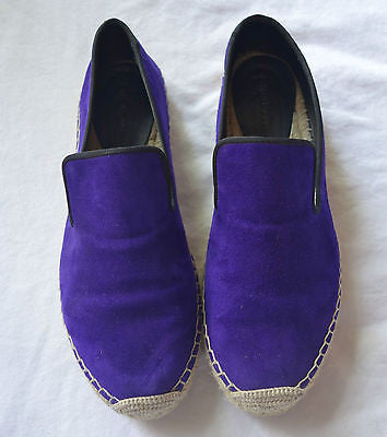 ~AUTHENTIC CELINE VIOLET SUEDE FLATS / ESPADRILLES  (COOL-GIRL FAVE!) ~ 39