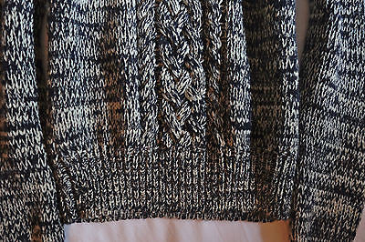 ~ NWT ISABEL MARANT GRAY CABLE KNIT DELTA SWEATER (OH SO COOL!) ~ 38