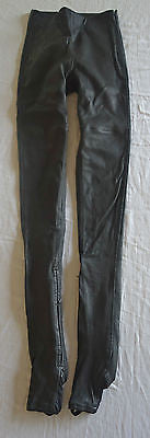 NWT MARTIN MARGIELA X HM BLACK LEATHER DRAINPIPE PANTS / LEGGINGS (OH SO HOT!) 2