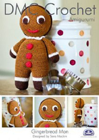Gingerbread Man - DMC Crochet Amigurumi Pattern