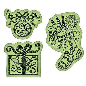 Inkadinkado Cling Stamps - Christmas Morning