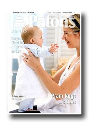 Pram Rugs Knitting Pattern - Patons 3974