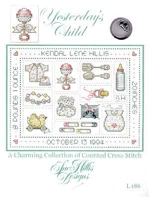 Yesterday's Child Cross Stitch Chart (w/charms)
