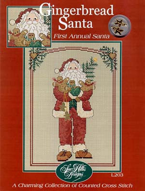 Gingerbread Santa Cross Stitch Chart